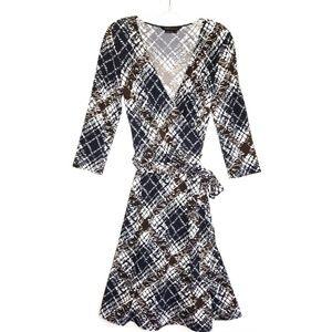 BCBGMaxAzria Long Sleeve Faux Wrap Dress Size S